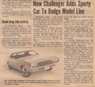 new challenger newspaper clipping