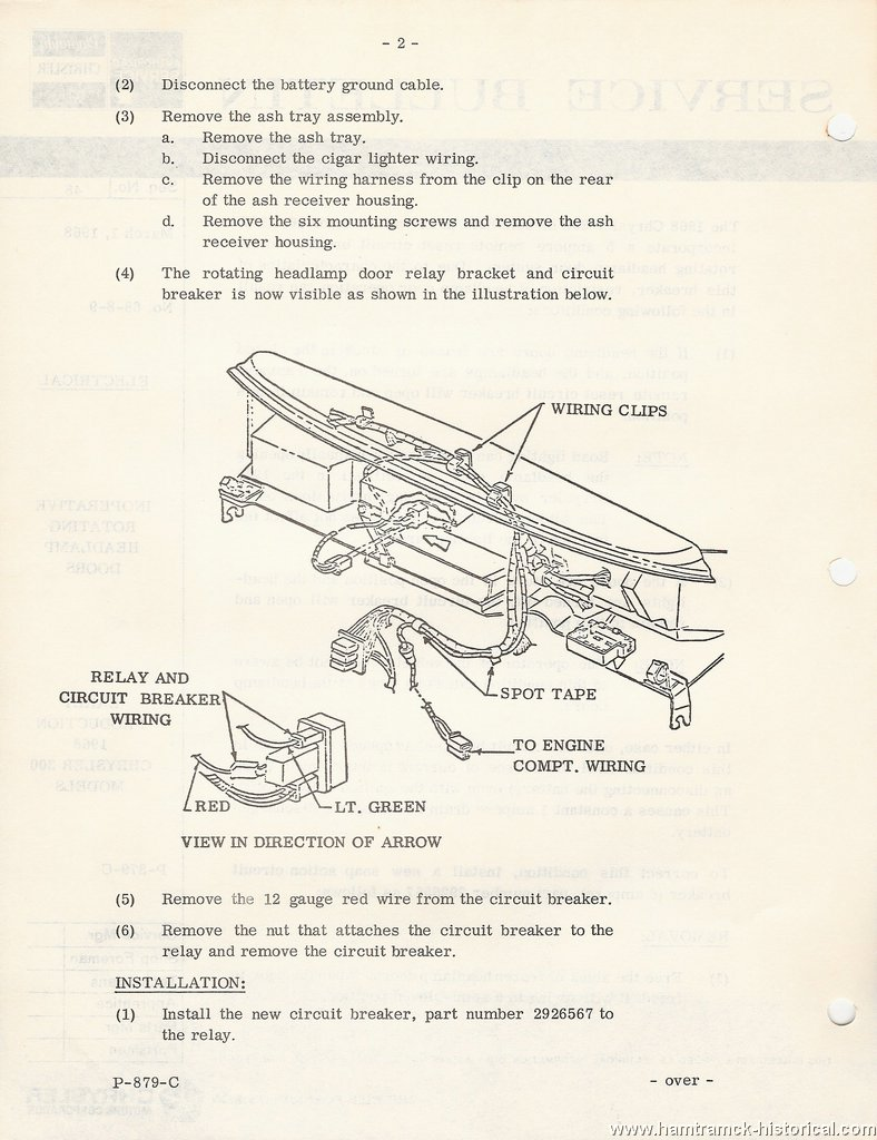 The 1970 Hamtramck Registry 1968 Plymouth Chrysler Imperial Tsbs 300 Wiring Diagram Models 1