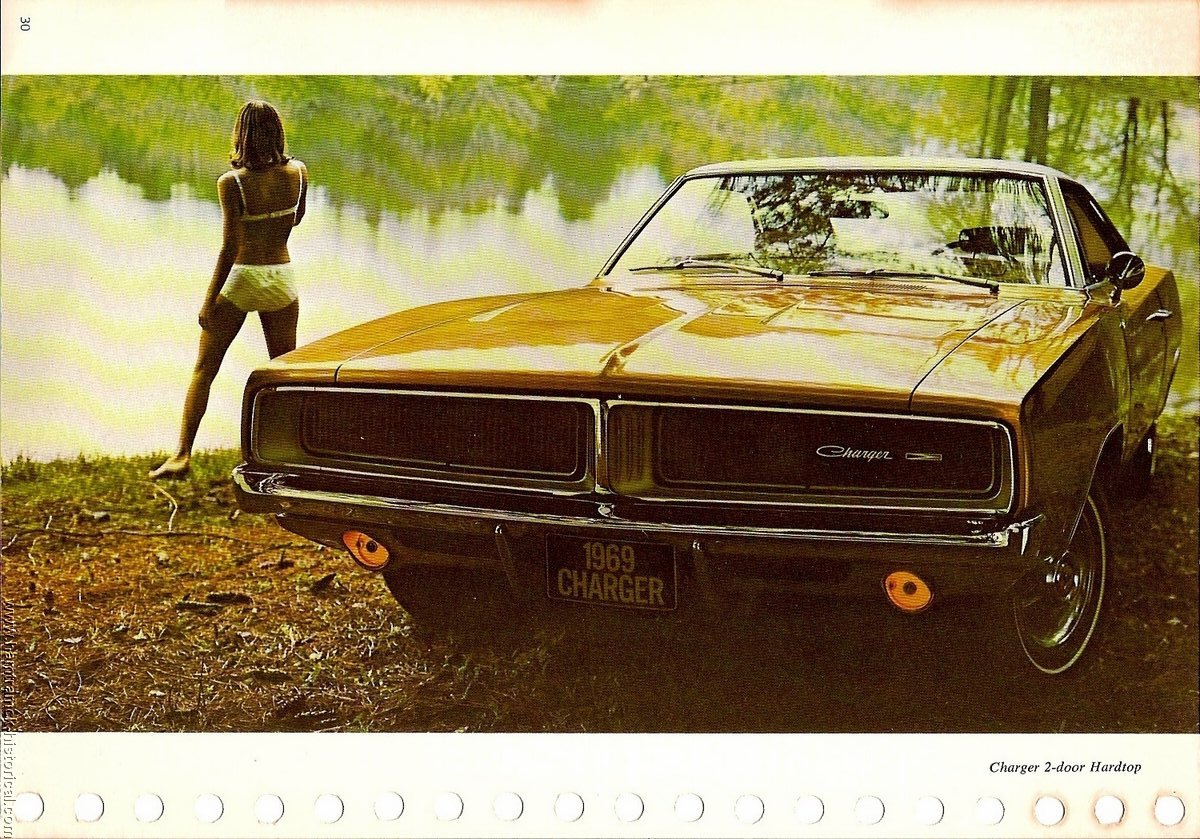 The 1970 Hamtramck Registry 1969 Dodge Dealership Data Book Charger Blower Motor Image 69 Charger0002