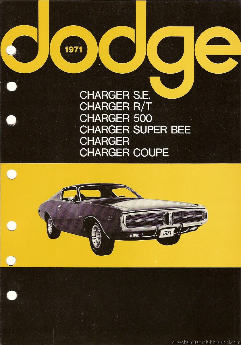 the 1970 hamtramck registry 1971 dodge dealership data book charger rh hamtramck historical com Dodge Charger SRT8 Manual 2006 Dodge Charger Manual