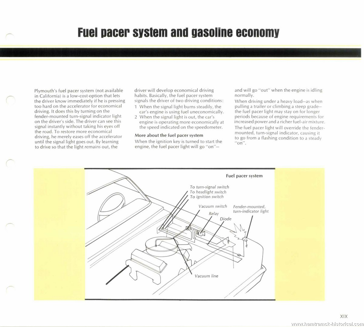 The 1970 Hamtramck Registry 1976 Plymouth Dealership Data Book Pacer Light Bar Wiring Diagram Image 76 Engineering 0017