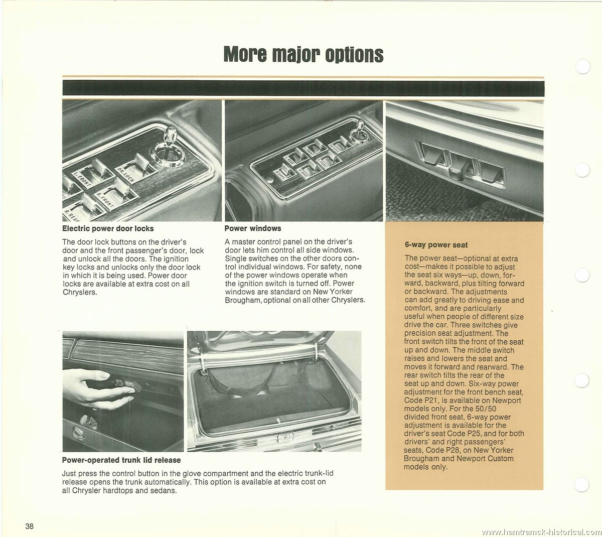 The 1970 Hamtramck Registry 1976 Chrysler Dealership Data Book Power Windows To Be Operated Only When Key Is On And For Image 76 Newport New Yorker 0014