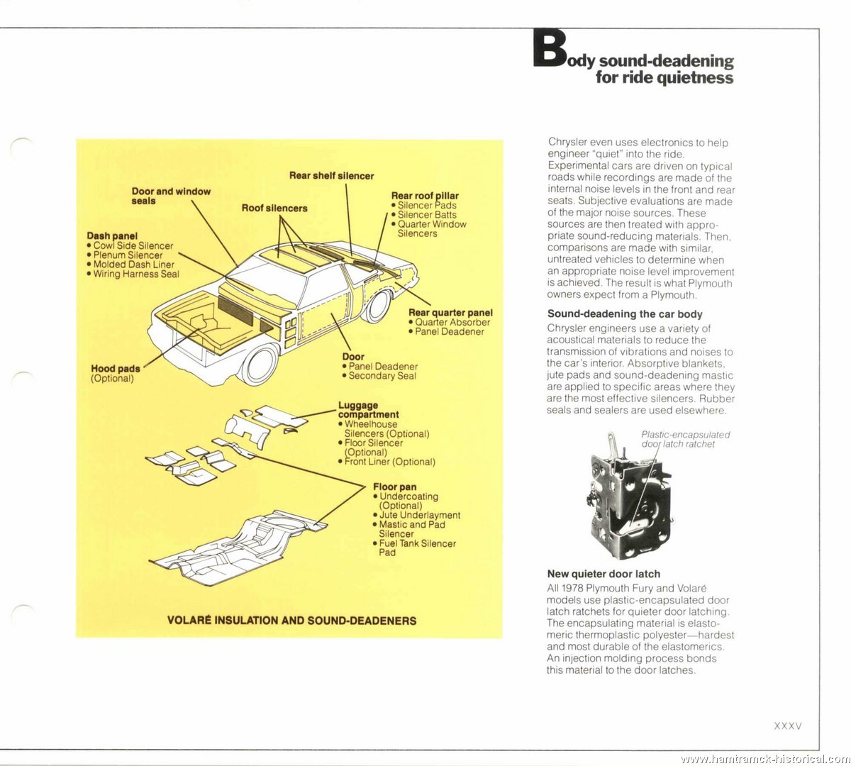 The 1970 Hamtramck Registry 1978 Plymouth Dealership Data Book Horizon Fuse Box Diagram Image 78 Engineering 0033