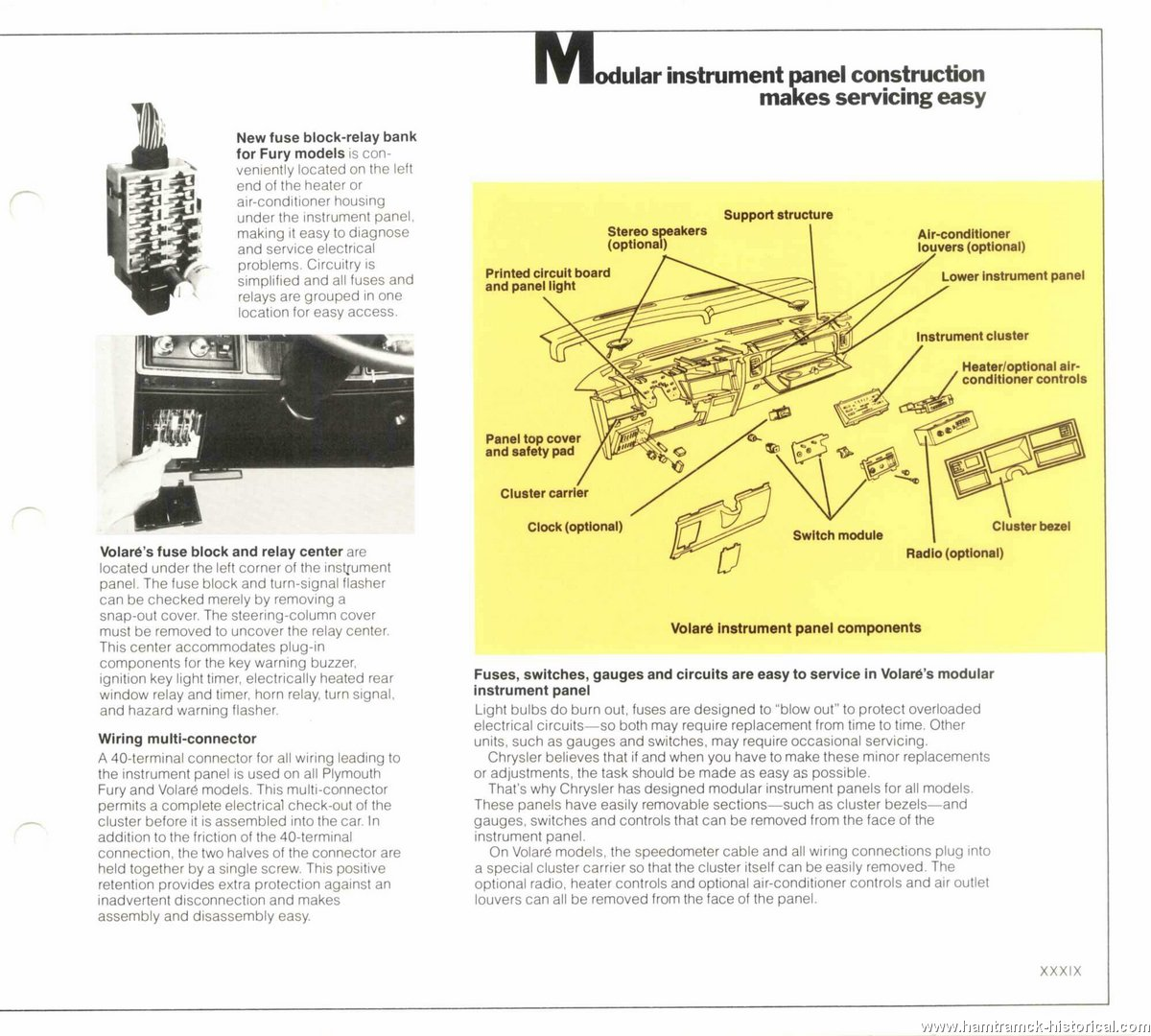 The 1970 Hamtramck Registry 1978 Plymouth Dealership Data Book Horizon Fuse Box Diagram Image 78 Engineering 0037