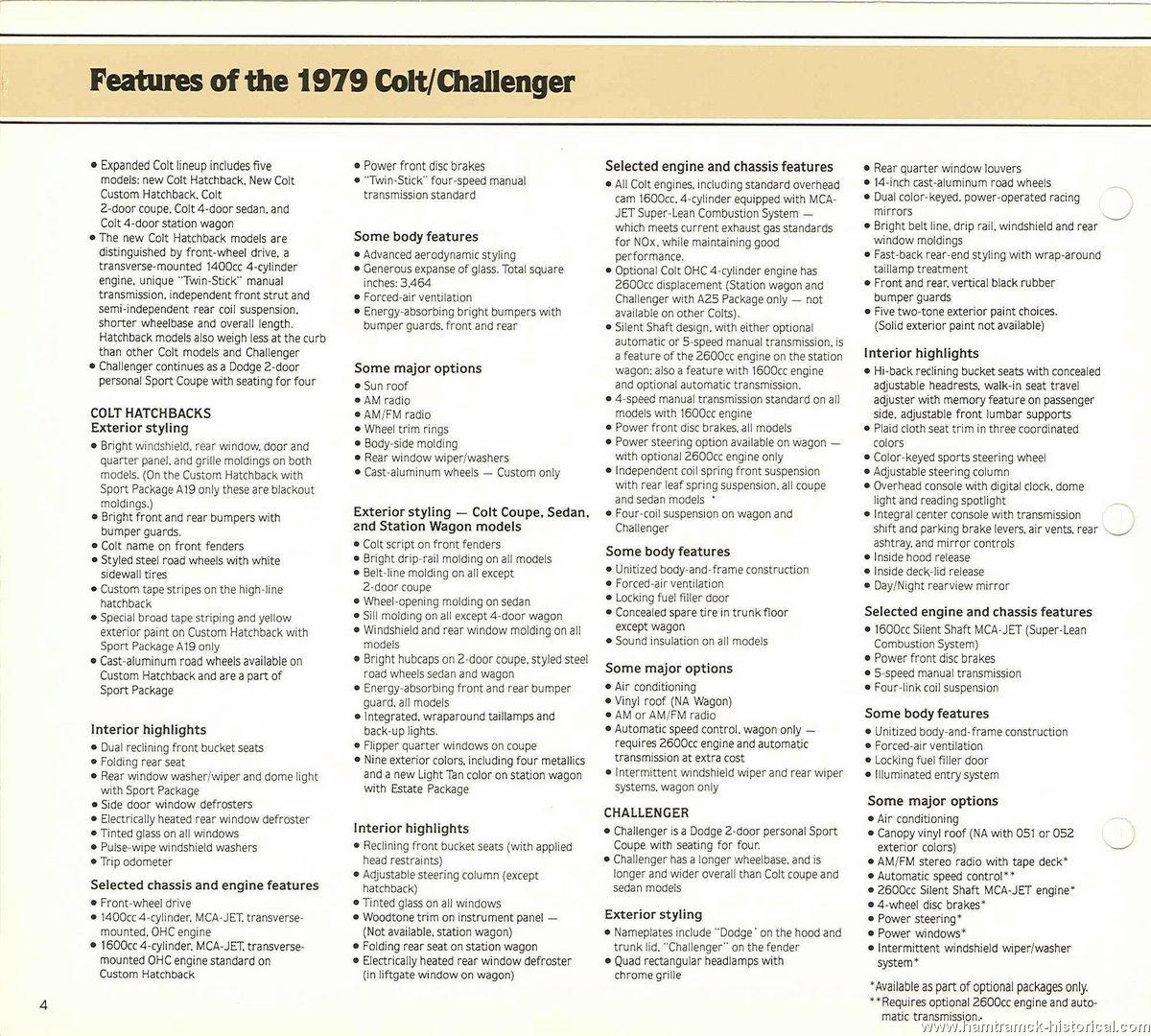 The 1970 Hamtramck Registry - 1979 Dodge Dealership Data