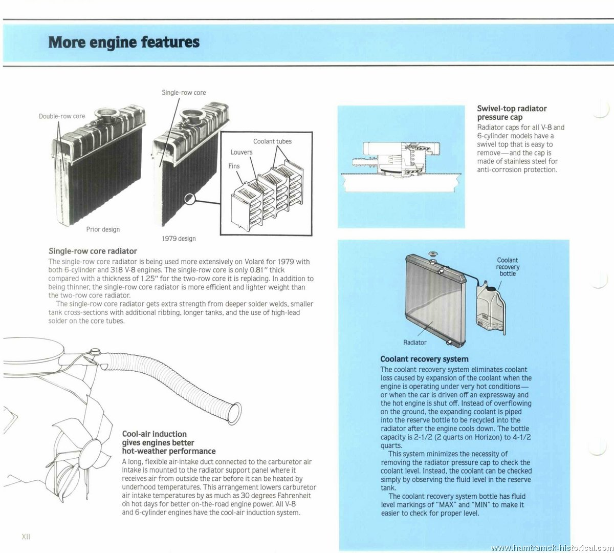 The 1970 Hamtramck Registry 1979 Plymouth Dealership Data Book Engine Cooling Diagram Image 79 Engineering 0010