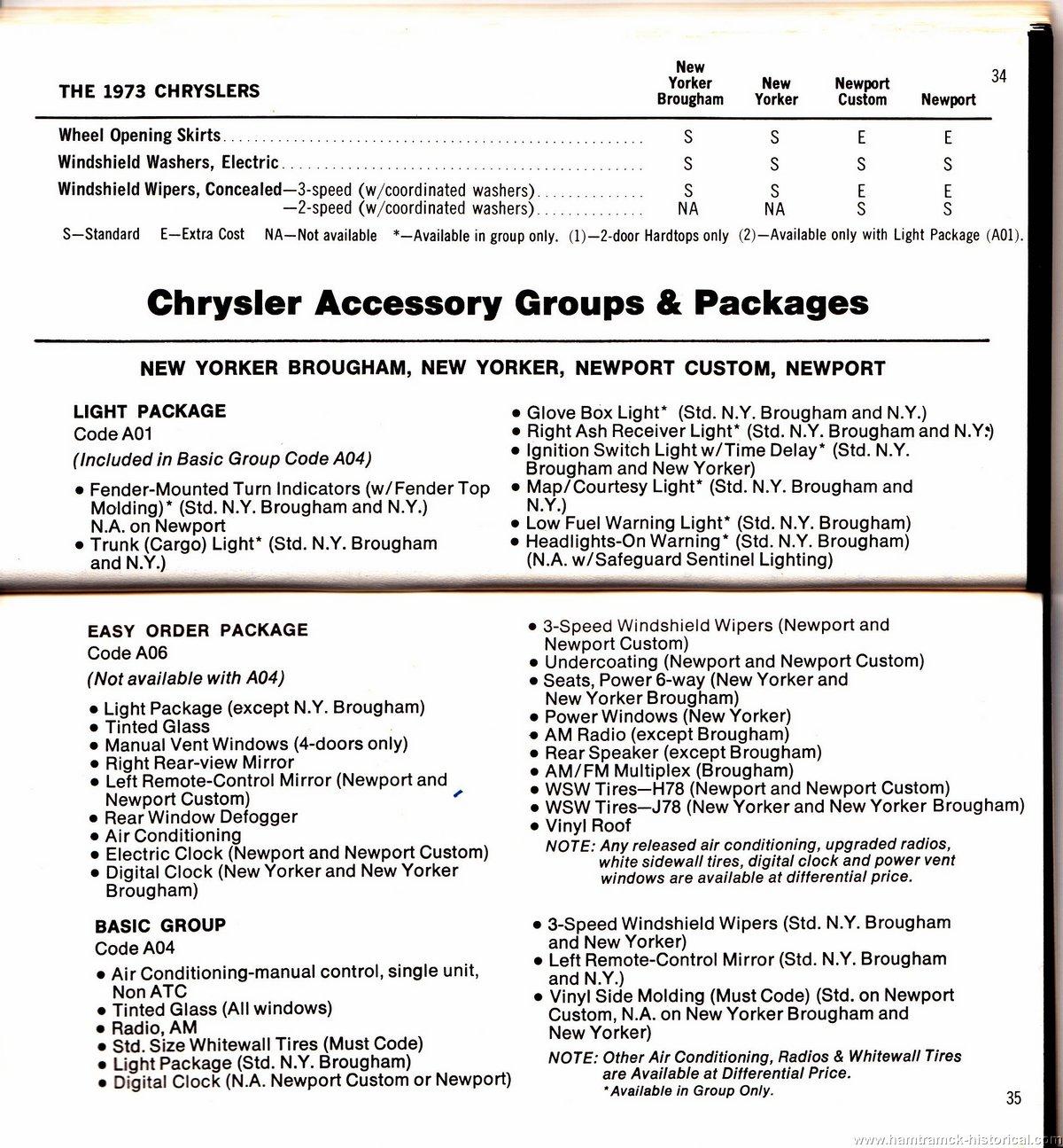 the 1970 hamtramck registry 1973 chrysler plymouth salesman s rh hamtramck historical com Sysco Food Order Guide 2018 chrysler pacifica order guide