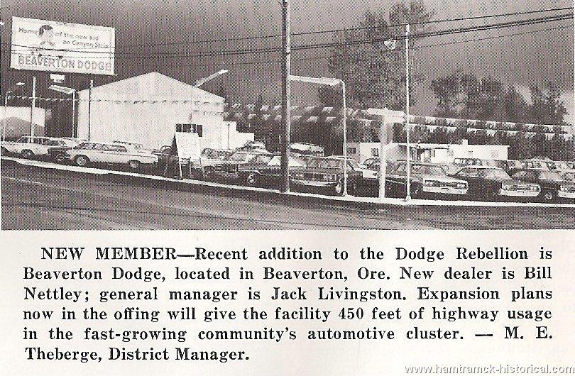Beaverton Car Dealerships >> The 1970 Hamtramck Registry - Dealership Photos