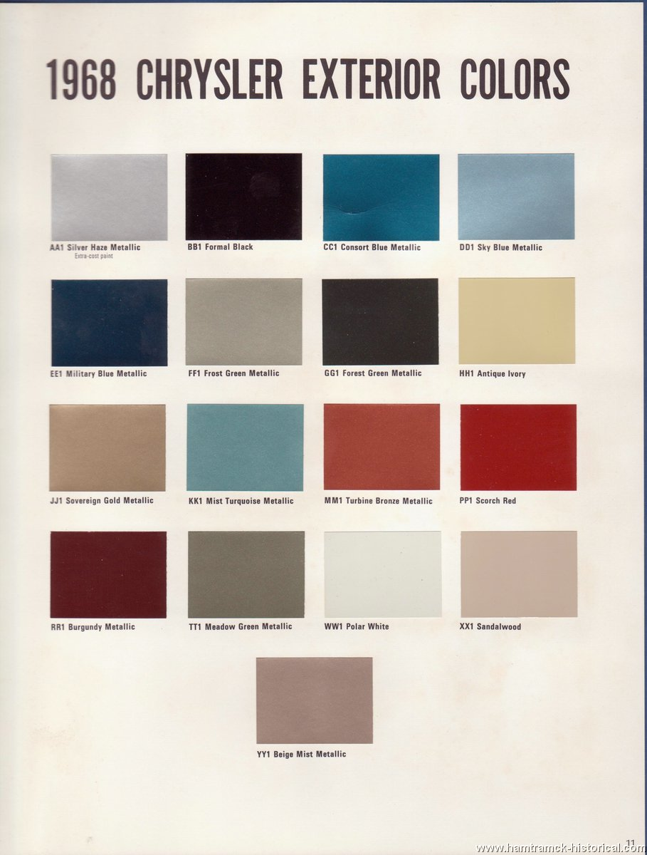 chrysler 300 color chart choice image