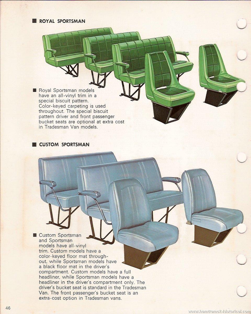 The 1970 Hamtramck Registry - 1972 Dodge Color & Trim Book - Sportsman