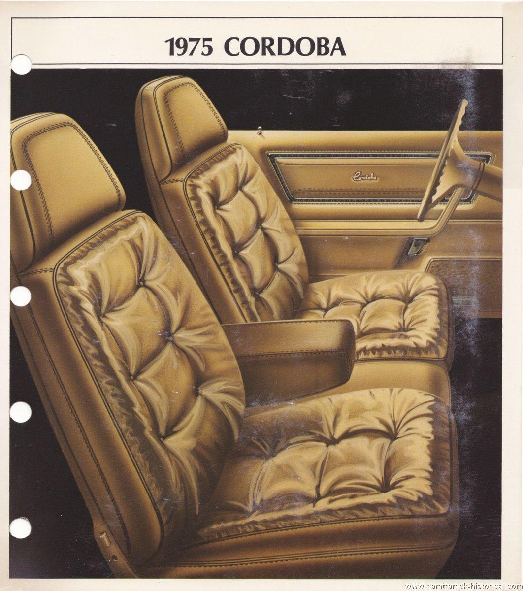 The 1970 Hamtramck Registry 1975 Chrysler Color Amp Trim