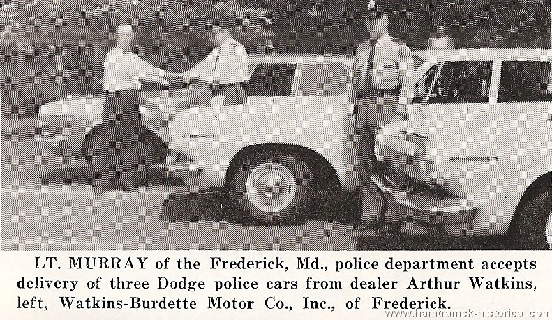 The 1970 hamtramck registry dealership photos for The frederick motor company