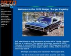 The 1970 Dodge Charger Registry