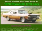 The Best Source on the Internet for 1970 Plymouth GTX Cars
