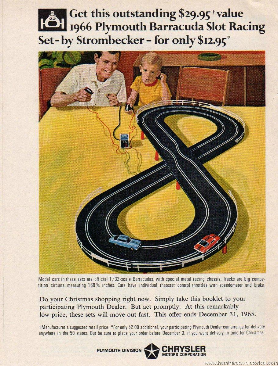 Barracuda slot racing cars