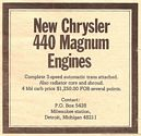 1970 ad for 440 engine -trans assemblies